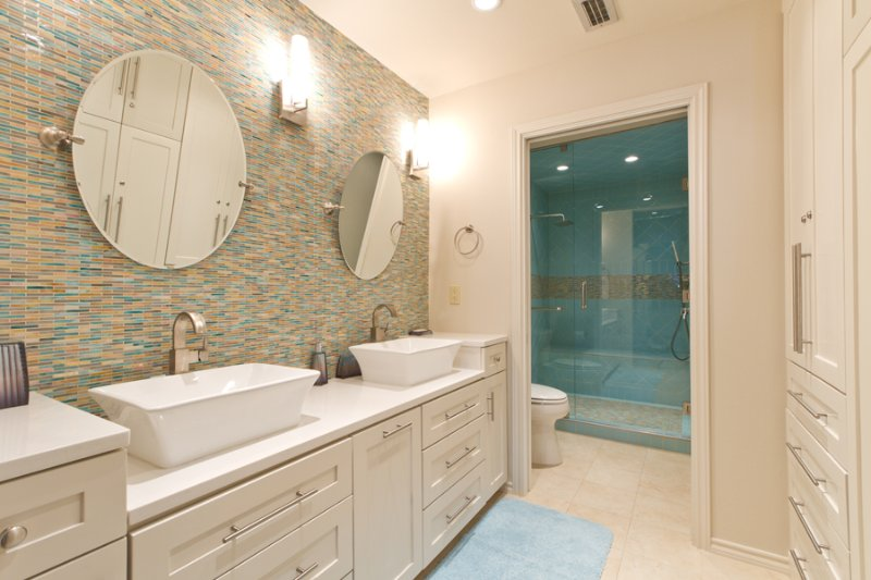 Newly remodeled master bathroom - Suntide III 102 - South Padre Island - rentals