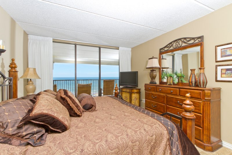 Master bedroom with a beach view - Suntide III 1003 - South Padre Island - rentals