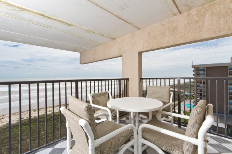 Balcony area with 2 views - Suntide III 1010 - South Padre Island - rentals