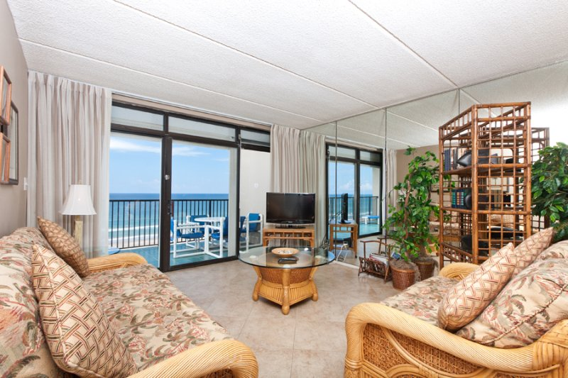 View From Dining To Living Area - Suntide III 909 - South Padre Island - rentals