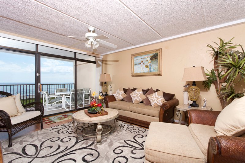 Living area with a nice beach view - Suntide III 509 - South Padre Island - rentals