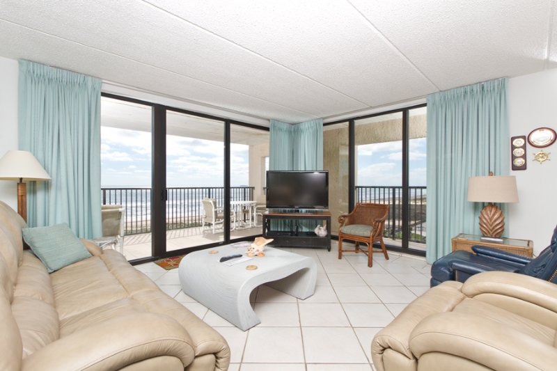 Living area with 2 views - Suntide III 610 - South Padre Island - rentals