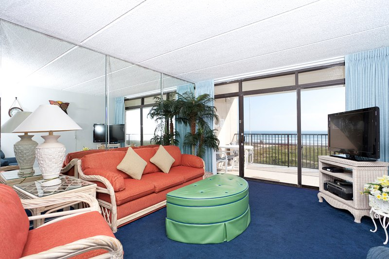 Updated living area with a beach view - Suntide III 302 - South Padre Island - rentals