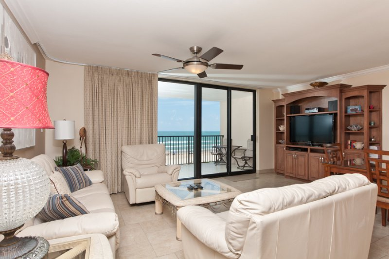 View From Dining To Living Area - Suntide III 605 - South Padre Island - rentals