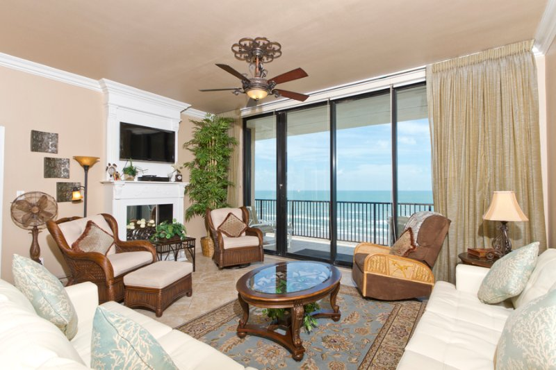 Living area with a view of the ocean. - Suntide III 1105 - South Padre Island - rentals