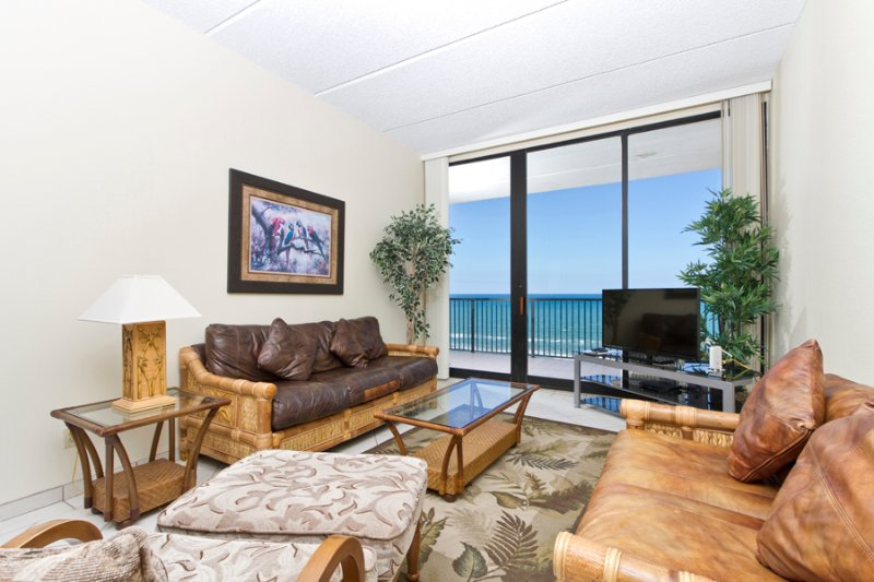 Living area with a beautiful beach view - Suntide III 1107 - South Padre Island - rentals