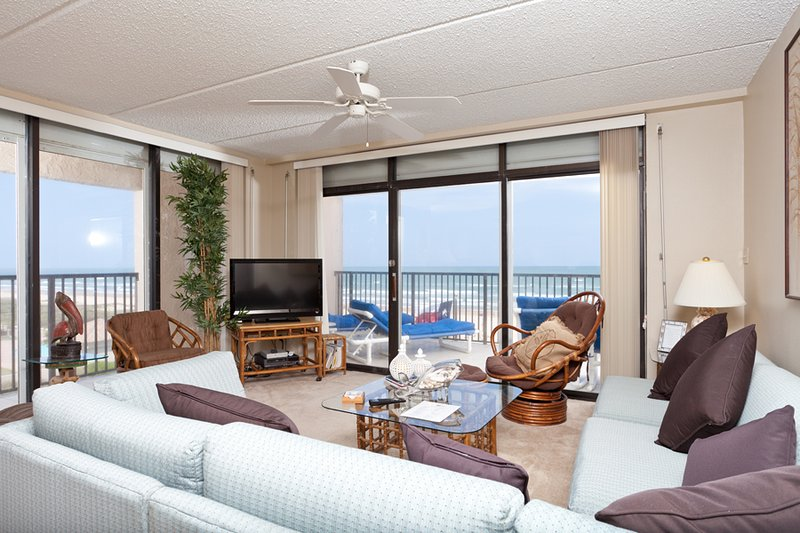 View from dining to living area - Suntide III 501 - South Padre Island - rentals