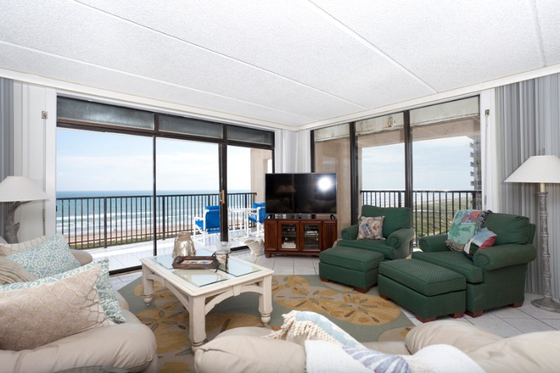 Living area with 2 beach views! - Suntide III 710 - South Padre Island - rentals