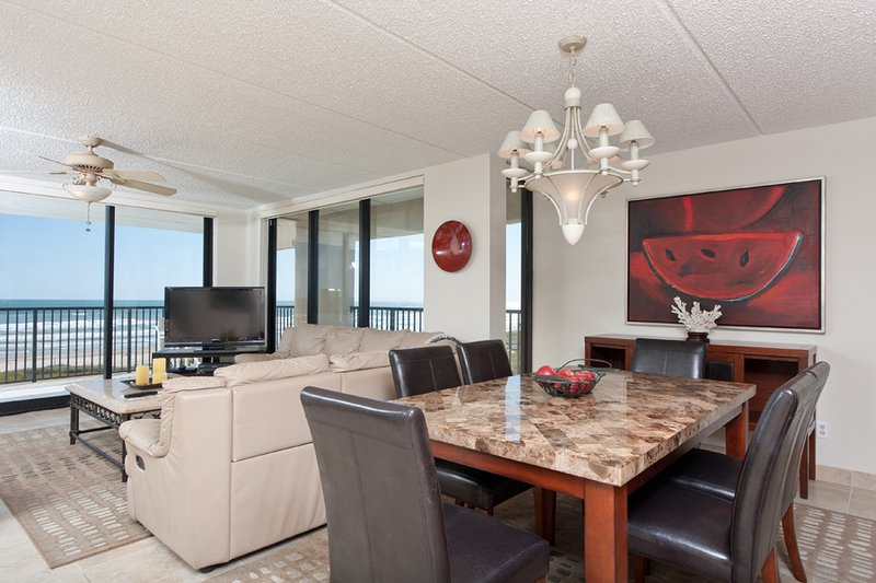 View From Kitchen To Dining & Living Area - Suntide III 410 - South Padre Island - rentals