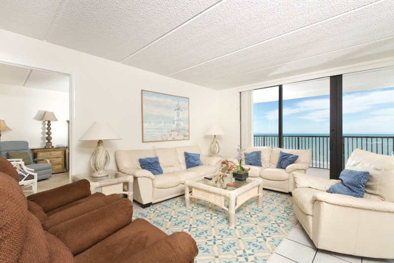 View from kitchen to living area - Suntide III 903 - South Padre Island - rentals