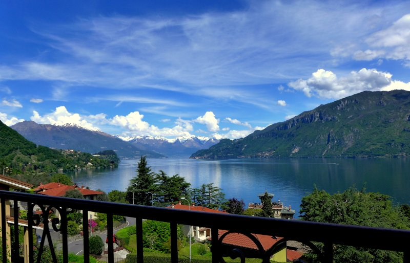 view from the main bedroom's balcony - Lake View Villa with private garden and parking. - Bellagio - rentals