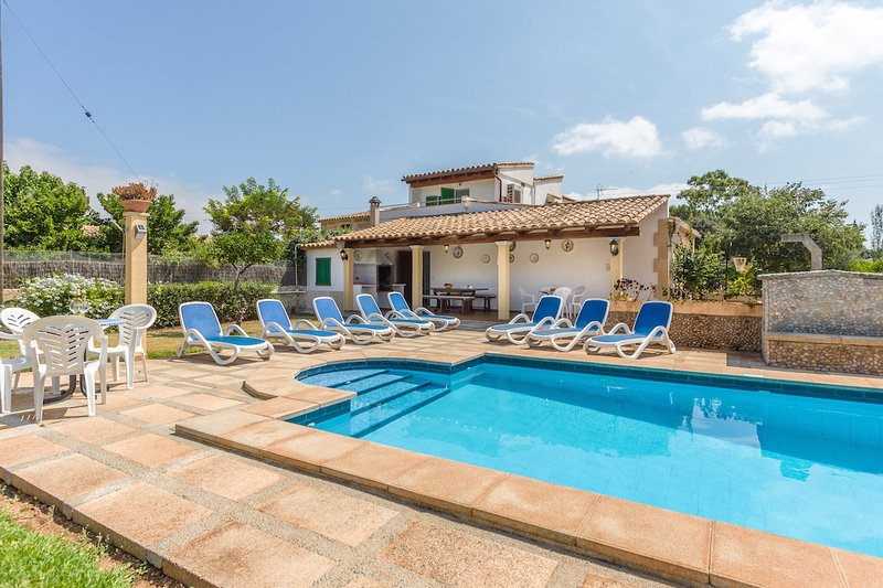 Swimming Pool with Sun Loungers - Villa Can Gato - Cala San Vincente - rentals