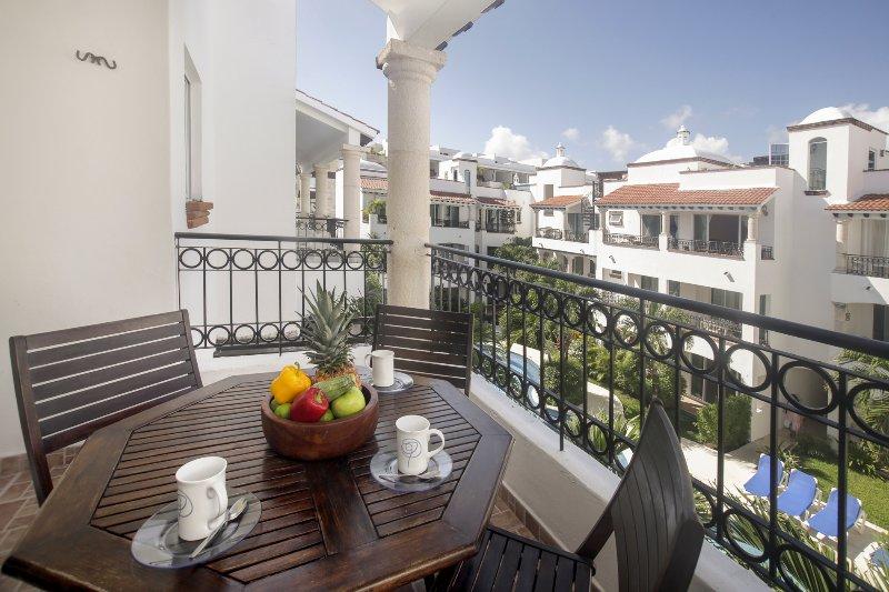 Gav 302 Balcony overlooking the courtyard pool - Gaviotas - Las Flores Properties  Great Deal, private rooftop and pool! - Playa del Carmen - rentals