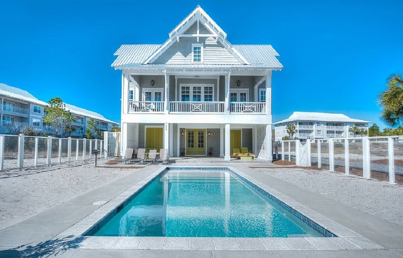 Custom Home! Sleeps 14 Close to Seaside! Private Pool & Private Beach Boardwalk - Image 1 - Seaside - rentals