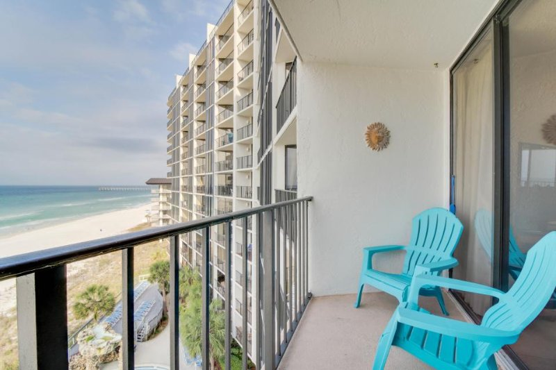 Resort condo on the beach with a balcony, views & 11 shared pools and hot tubs! - Image 1 - Panama City Beach - rentals