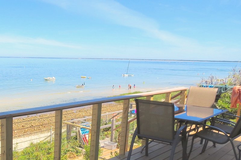 New construction and directly on the beach -- a rare combination on the Cape. On a clear day from here, you can see the Pilgrims' Monument at Provincetown on the tip of the Cape. - New, on the beach, sweeping bay views--026-B - Brewster - rentals