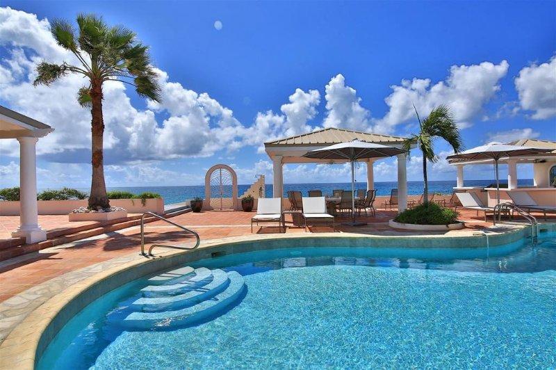 LES TROIS JOURS...an idyllic beachfront 6 BR property on beautiful Baie Longue - Image 1 - Baie Longue - rentals