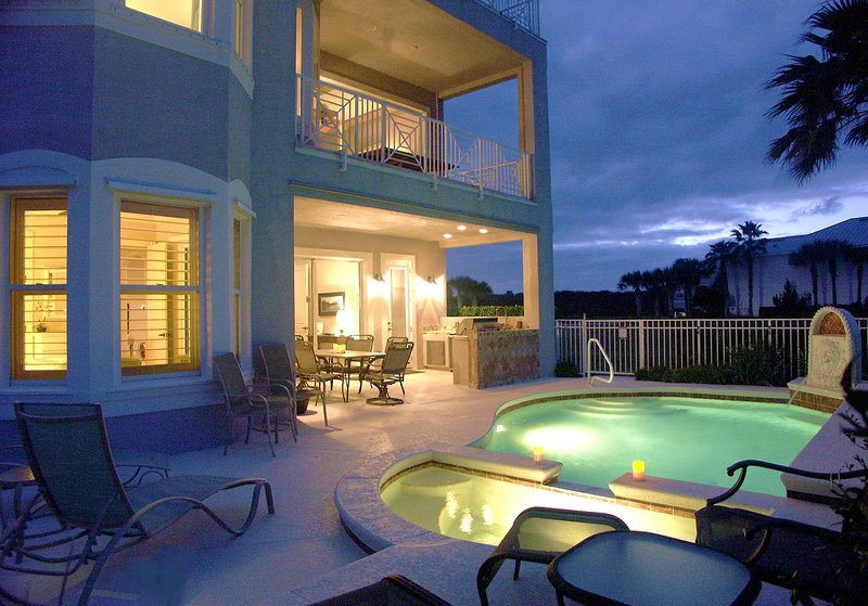 The Cinnamon Beach House Pool Oasis, a Retreat Day or Night - # 1 FLORIDA VACATION DESTINATION!!! Amazing Waterfront Home: Views, Prvt Htd Pool, Elevator & More - Palm Coast - rentals