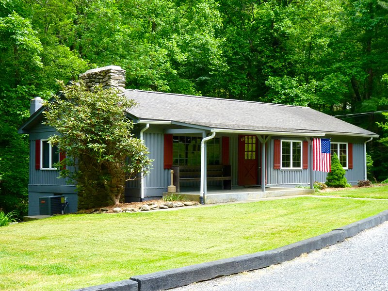This is a Ranch-Style 3BR, Located with a Mountain Stream in the Back Yard - On A Mountain Stream, Pet Friendly 3BR - Oakwood - Tyro - rentals