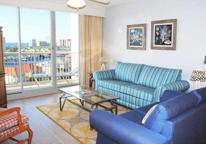 Living Room The Terrace at Pelican Beach Resort Destin Florida Vacation Rentals - Terrace at Pelican Beach Resort, Unit 803 - Destin - rentals