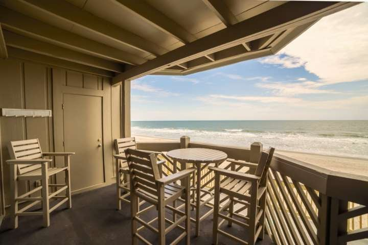 Enjoy this great oceanfront view from comfortable balcony furniture.  This is the view you and your family will enjoy, this isn't a model unit. - Maritime Place First Floor Oceanfront - Updated! - Garden City - rentals