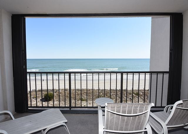 Station One 5B Ocean Front Balcony - Station One-5B Mountjoy-Oceanfront condo with community pool, tennis, beach - Wrightsville Beach - rentals