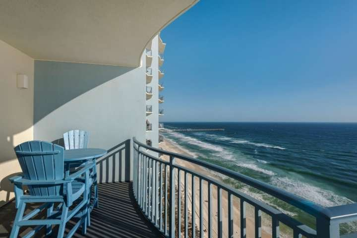 Dine on the Gulf View Balcony! - 1806 Sterling Breeze - Panama City Beach - rentals