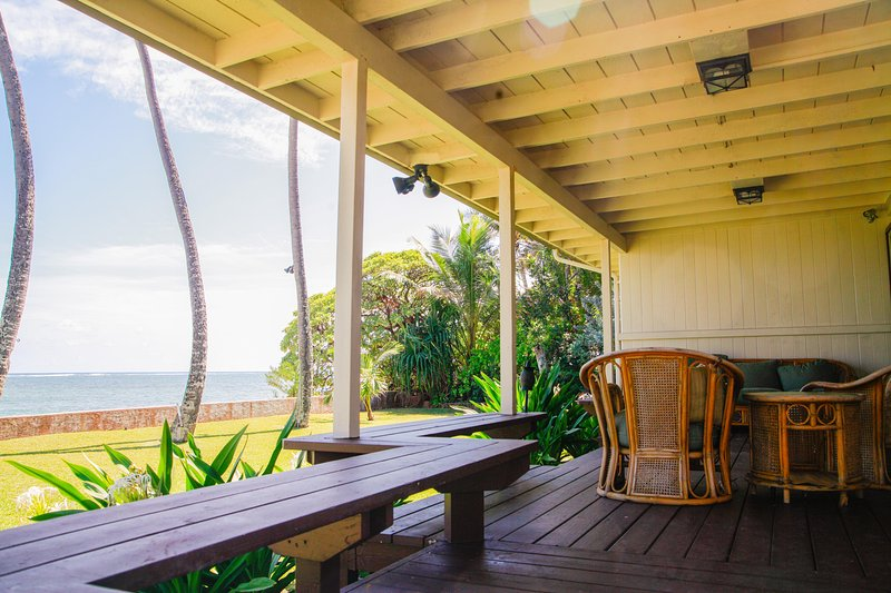 Aloha Hawaiian House - Aloha Hawaiian Estate - beachfront, near PCC - Hauula - rentals