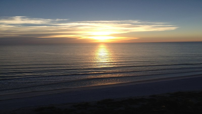 There's nothing quite like this view.  Sunset from our balcony - Sun, Sand, Serenity. 2BR/2BA beachfront condo - Bonita Springs - rentals