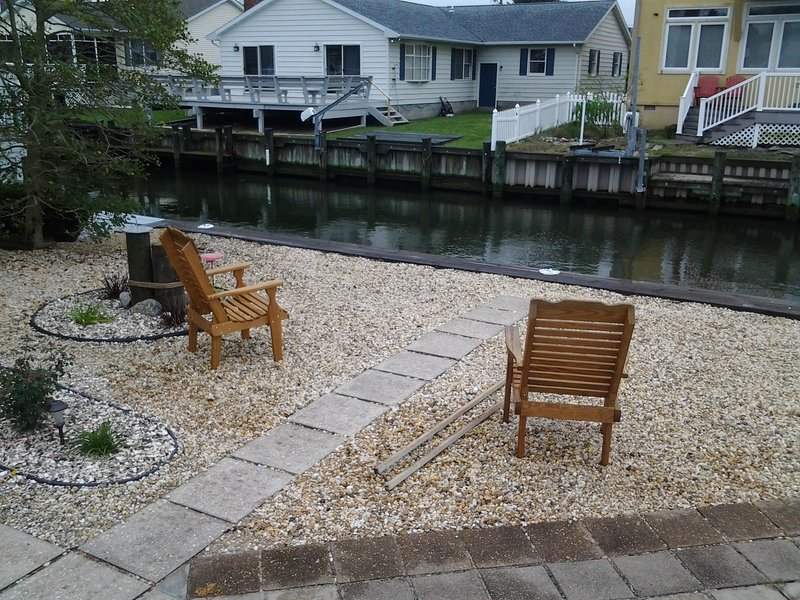 Back yard for full enjoyment - Old Wharf, North OC Home on Canal with Boat Tie-up - Ocean City - rentals