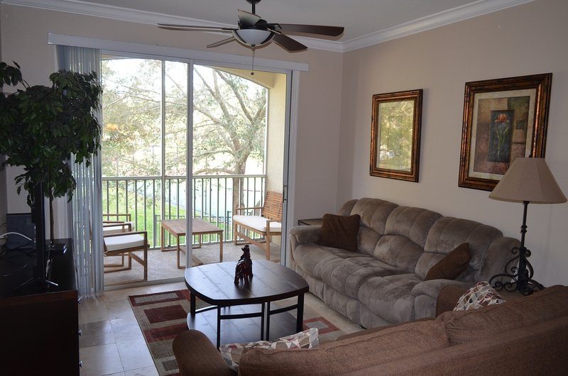 No Booking Fees!! Steps to Disney, Top Rated Resort, 3BR Condo, Gated, Free Wifi - Image 1 - Four Corners - rentals