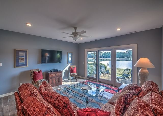 1st Floor Living Area - 1624 Port Villa - Beautiful Braddock Cove Views and so much more. - Hilton Head - rentals