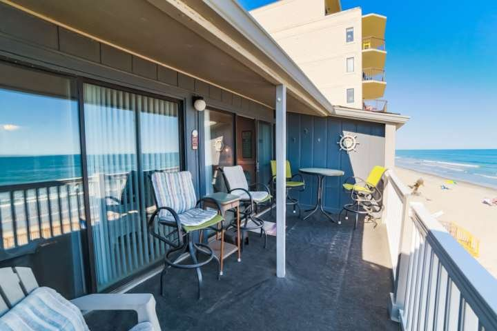 Large balcony with access from the living room and master bedroom. - Mariners Watch 302 - Garden City - rentals