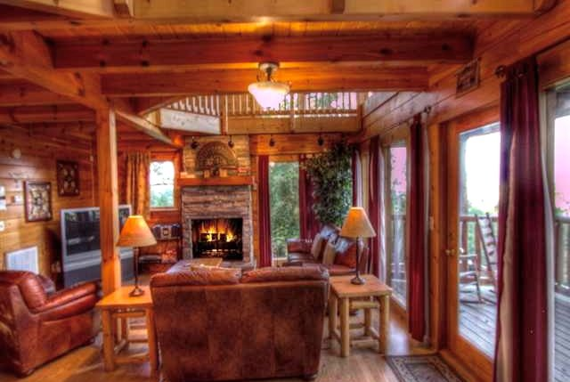 "Enjoy your stay! Our Living Room is all windows, bringing the view ""INSIDE"" - Most Incredible View-3 Masters/Pool/Privacy/Luxury - Gatlinburg - rentals"