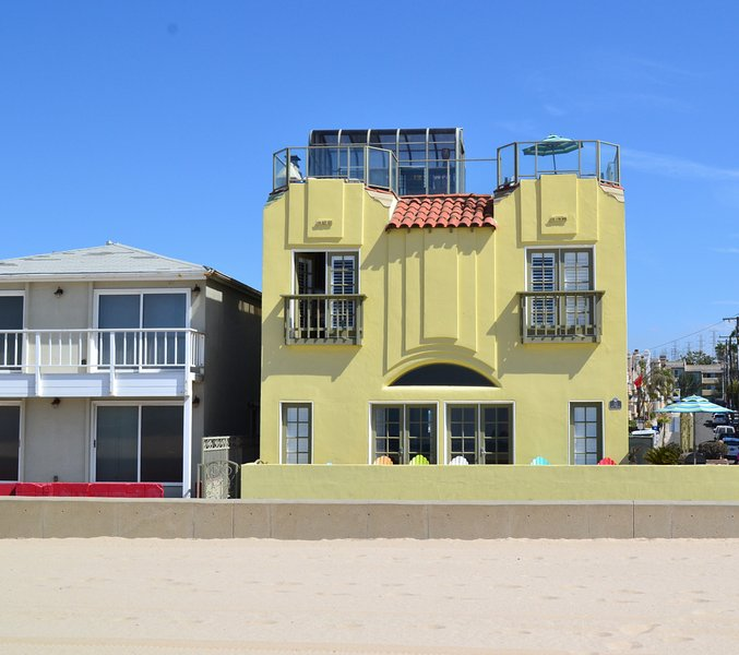 View from the sand. - Breathtaking BeachFront w/ Rooftop Deck and Views! - Hermosa Beach - rentals