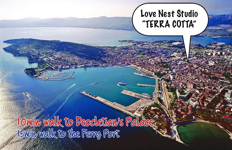 "Love Nest Studio ""TERRA COTTA"" - Image 1 - Split - rentals"