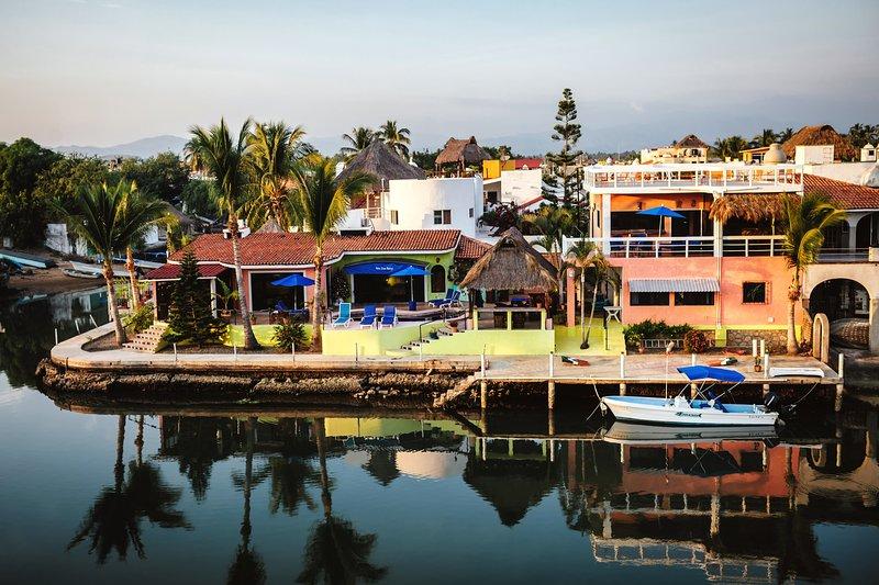 villa from water - Waterfront Penthouse - Barra de Navidad - rentals