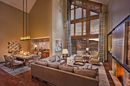 Living Room - One Steamboat Place - Quandary Peak Penthouse (4BR Condo) - Steamboat Springs - rentals