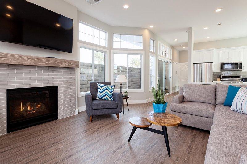 Living Room Area - Ground Level - 128 25th Street - Newport Beach - rentals