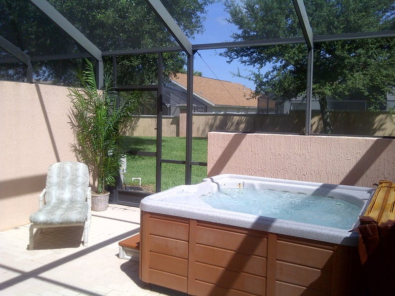 Lots of sun in the daytime. - Relaxing 3 bed 3 bath Spa home at the 5* Gated Windsor Palms Resort near Disney - Kissimmee - rentals