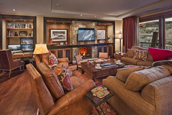 Living Room  - One Steamboat Place - Hahns Peak - 4BR Slopeside Luxury - Steamboat Springs - rentals