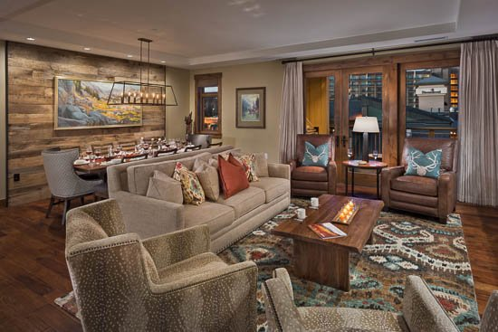 Living Room - Ski In/Ski Out at Farwell Mtn -One Steamboat Place - 4BR - Steamboat Springs - rentals