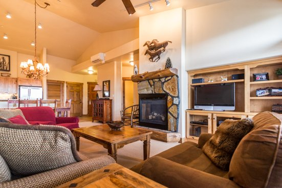 Champagne Lodge 3302 Living room - 3302 Champagne Lodge, Trappeur - Steamboat Springs - rentals