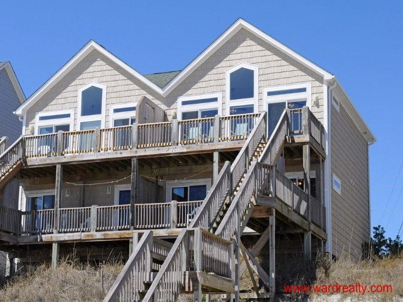 Oceanfront Exterior - Awesome Oceanfront A - Surf City - rentals
