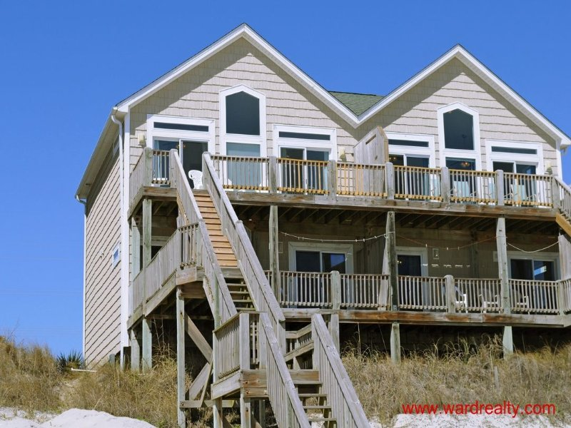 Oceanfront Exterior - Awesome Oceanfront B - Surf City - rentals