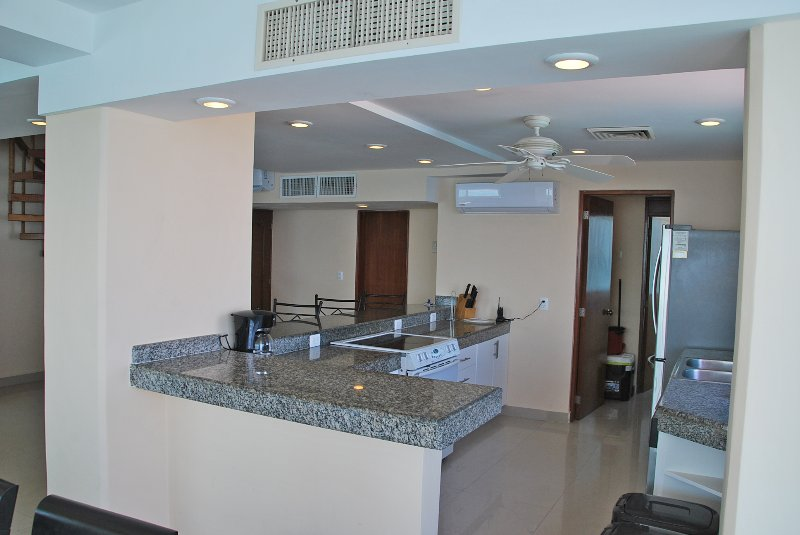 Its a full kitchen with stove, full size fridge and dishwasher - Penthouse #372 - Cancun - rentals