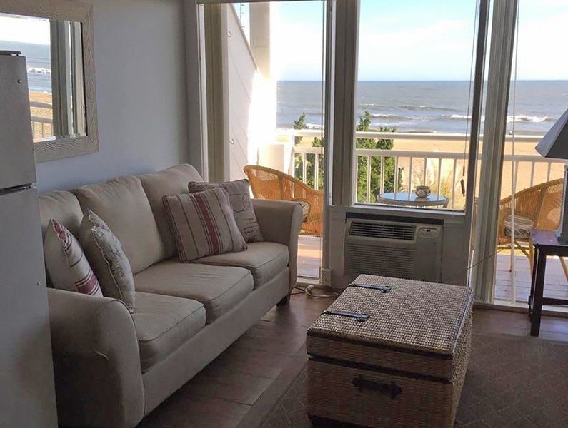 Oceans II Studio Virginia Beach. View from 202 - Oceanfront Studio Virginia Beach Boardwalk 40th Street  Oceans II #202 - - Virginia Beach - rentals