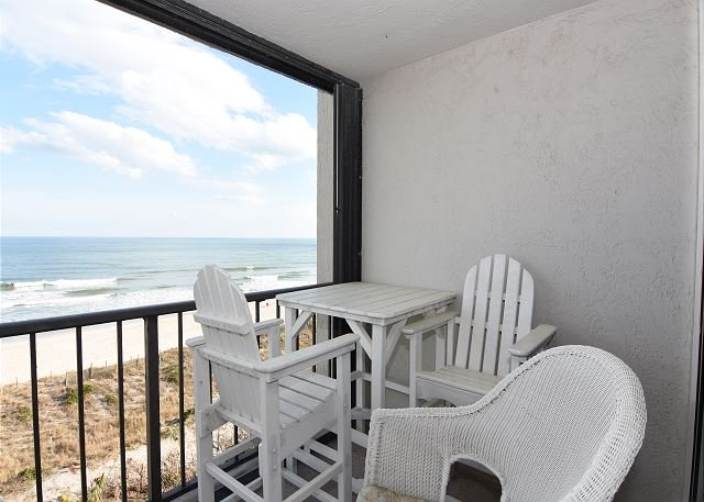 Station One 5F Oceanfron Balcony - Station One-5F Beach Retreat-Oceanfront condo, community pool, tennis, beach - Wrightsville Beach - rentals