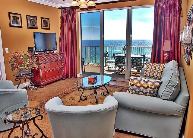 Stunning 3 Bedroom, 7th Floor, Corner Unit with 2 Gulf-Front Masters w/ View! - Image 1 - Panama City Beach - rentals