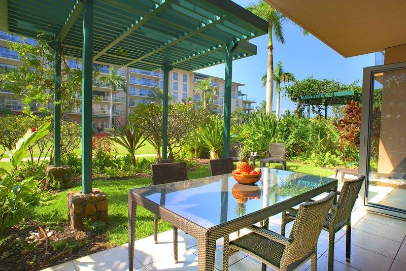Welcome Home to Hokulani 147 - Maui Resort Rentals: Honua Kai Hokulani 147 - Ground Floor Interior w/ Lawn - Lahaina - rentals